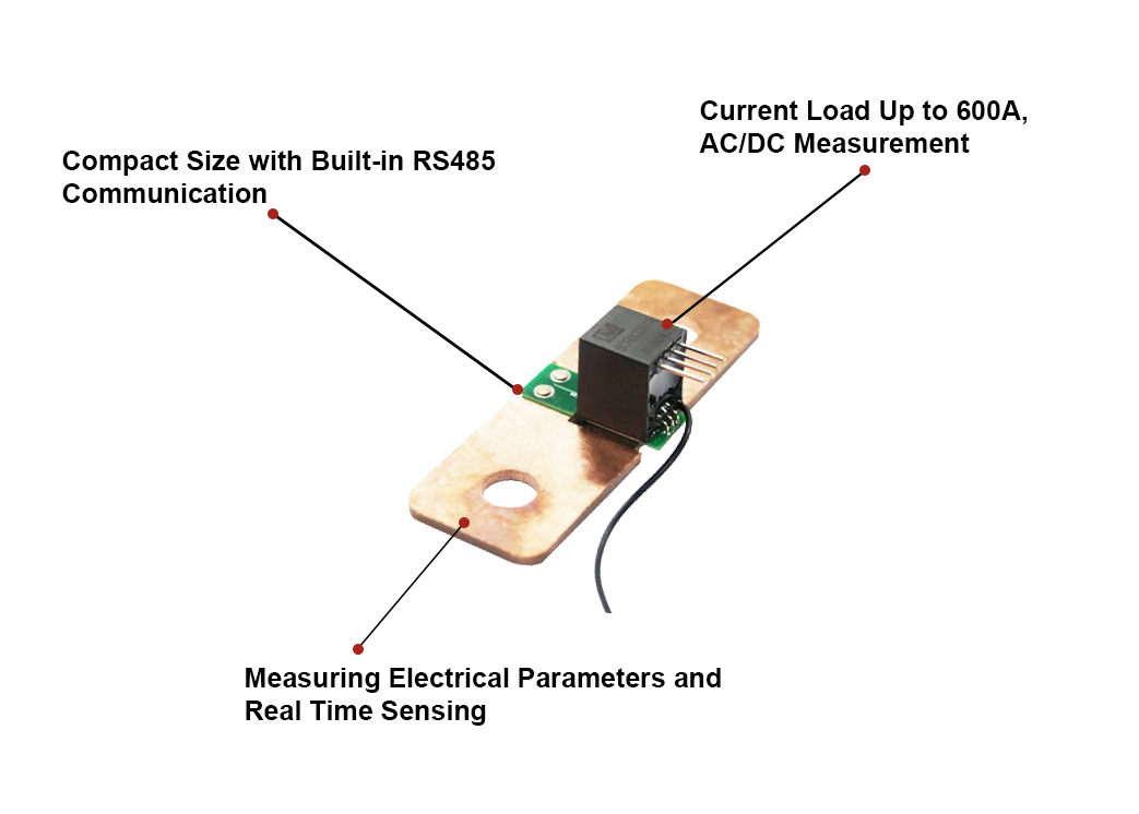Real-time Sensing Single Phase Smart Power Sensor with RS485 Communication