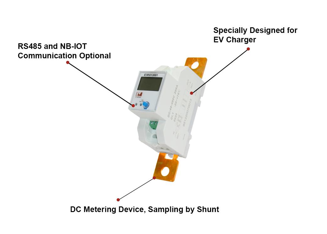EM613001 Shunt Sampling RS485 Digital Solar DC Energy Meter for Battery Storage System