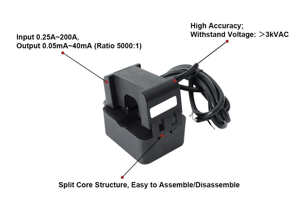 IVY-CT-OC-34-16 100A 200A 0.05mA~40mA Output Class 1 Class 0.5 Split Core Current Transformers for Energy Meter