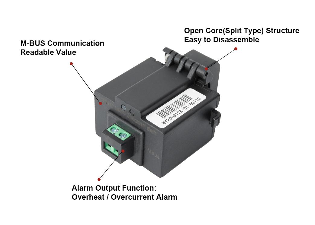D129072 High Accuracy 100A Split Core Current Transformer Smart Sensors with M-bus Communication