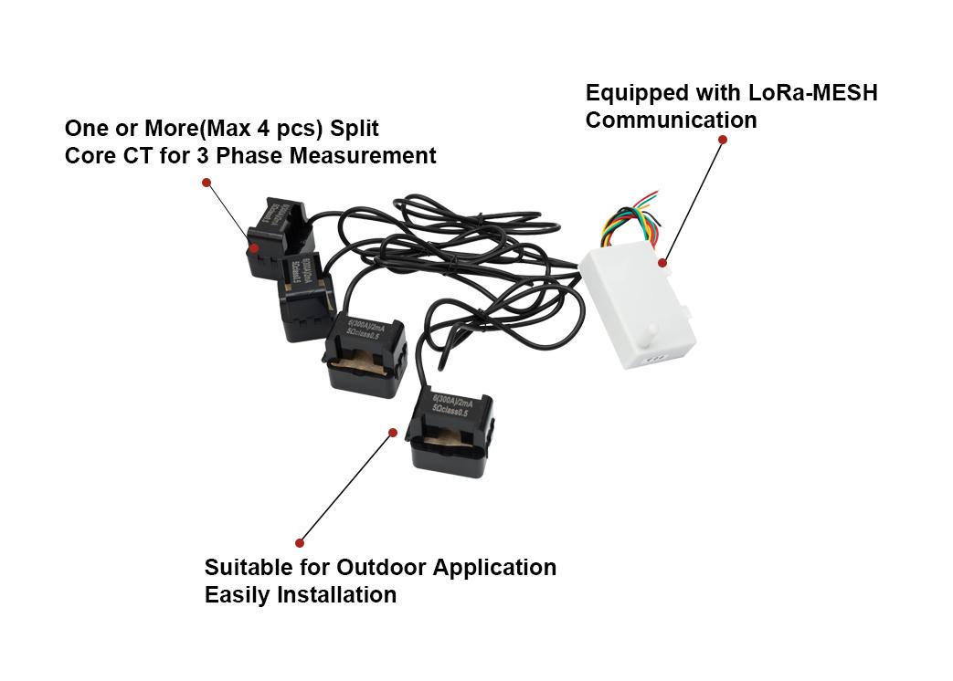 Lora-Mesh Integrated Distance Monitoring Digital Electric Current Sensor