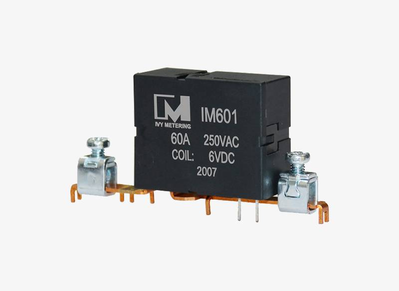 IM601 60A 250VAC EV Power Relay Dual Coil Magnetic Latching Relay with PCB Terminal