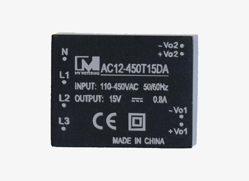 AC12-450T15DA High Efficiency Module Transformer Mini 110-450VAC 5W Isolated AC-DC Power Supply Module