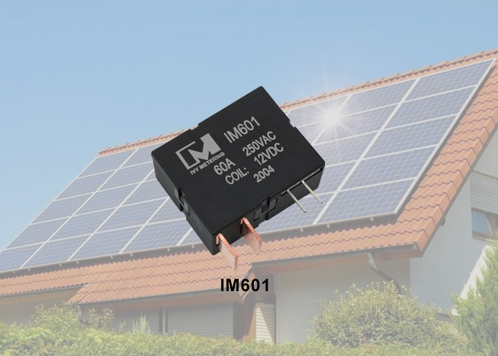 The relationship between solar panel and magnetic latching relay